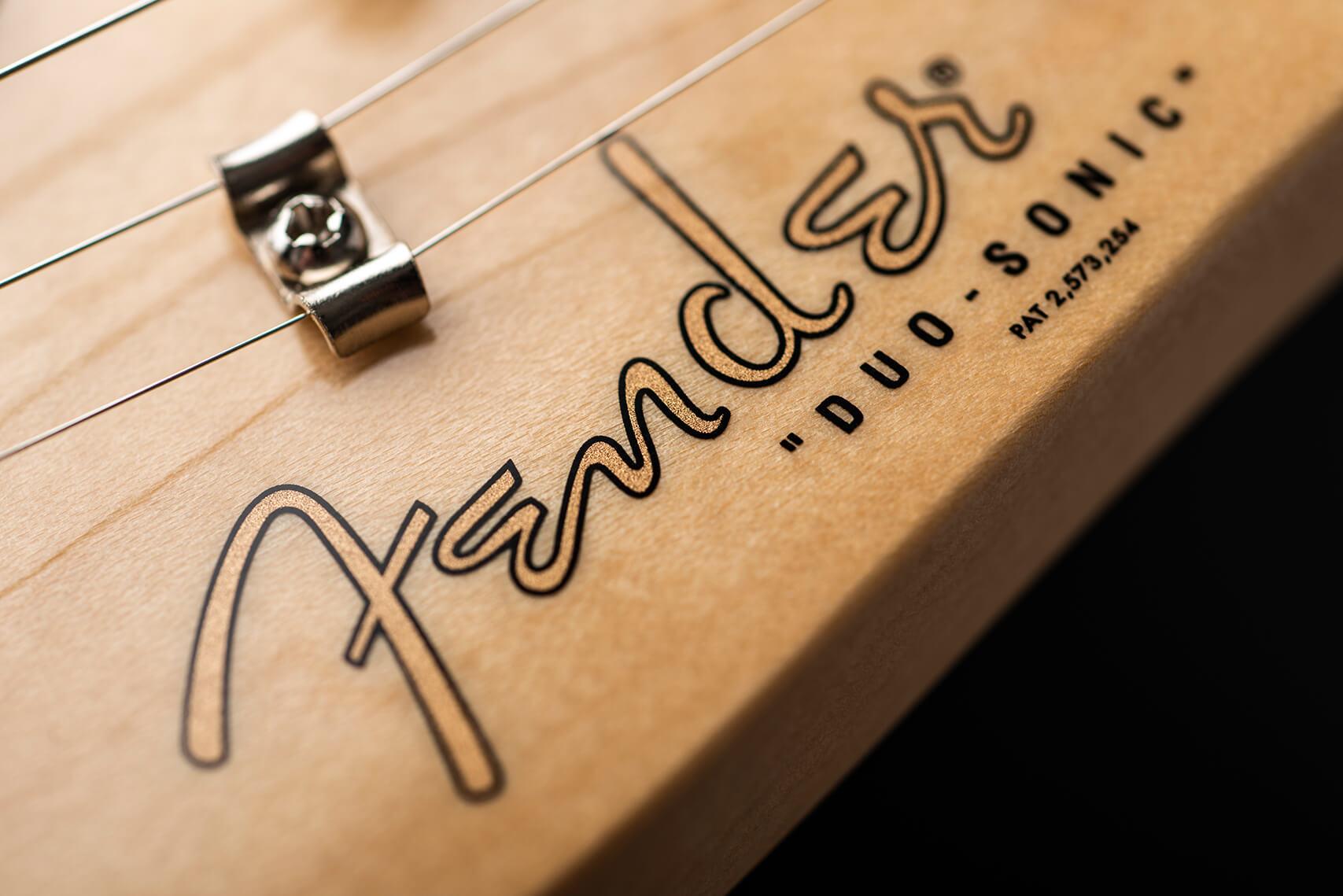 Fender Player Duo Sonic Headstock