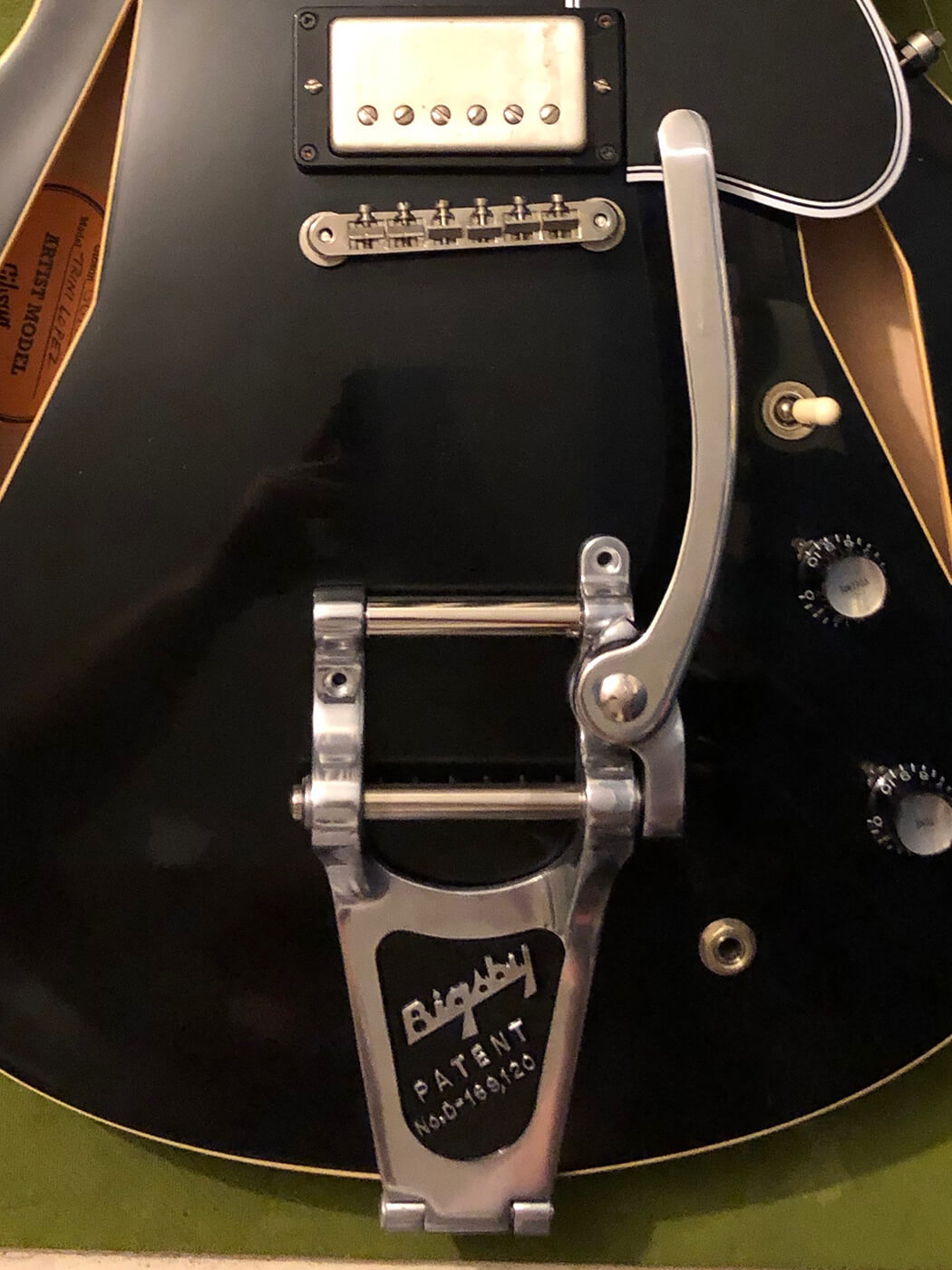 How to age your bigsby tailpiece 4