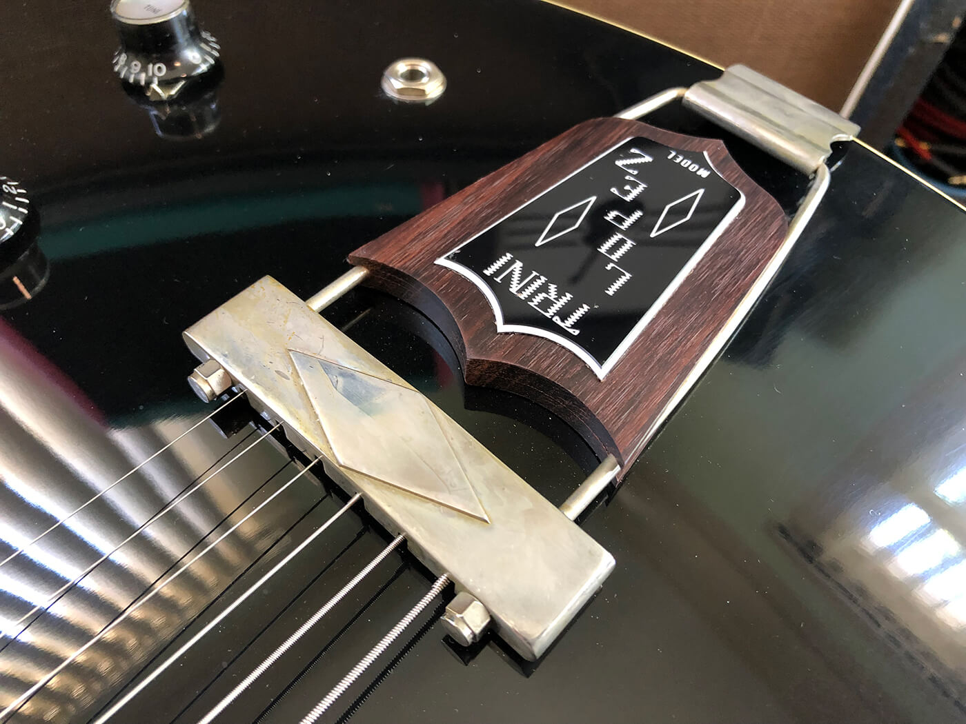 How to age your bigsby tailpiece 7