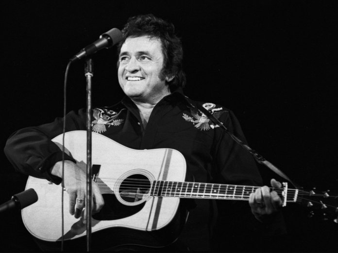 Johnny Cash onstage 1970s