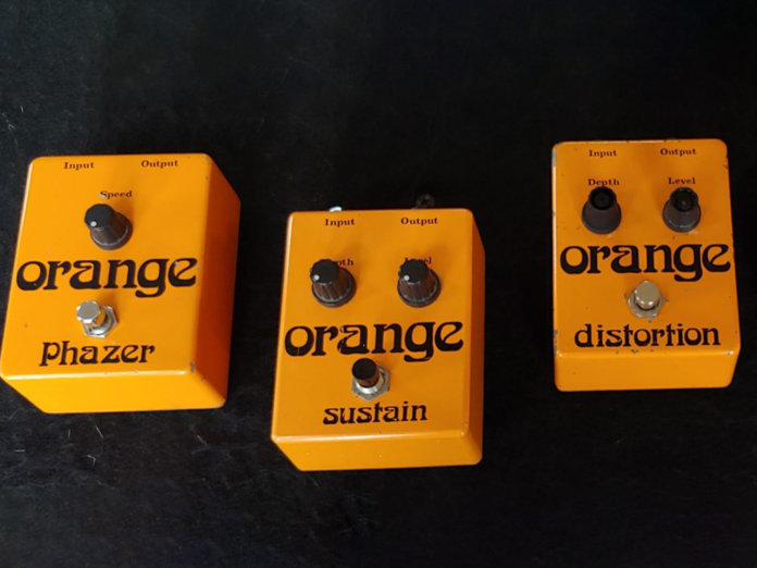 Three Orange pedals from the '70s