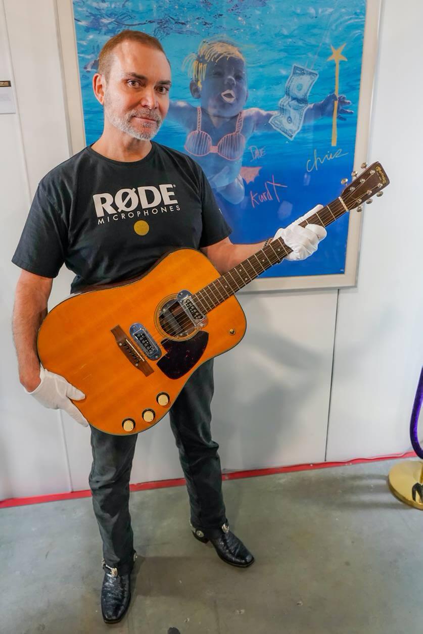 Peter Freedman with Kurt Cobain's Acoustic
