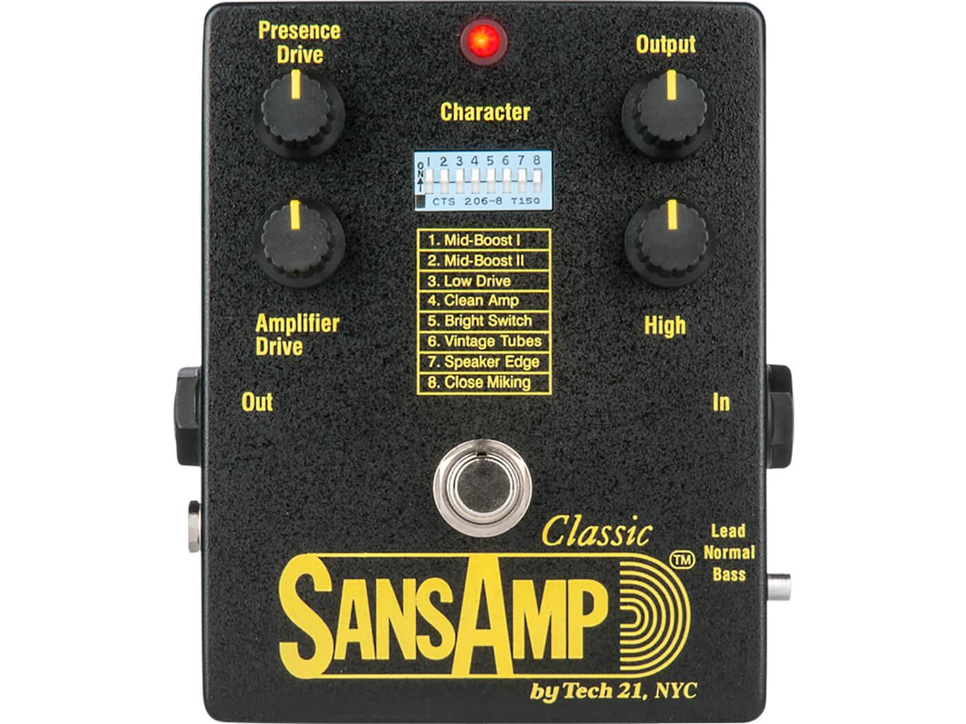 Best Direct Recording Boxes Tech 21 SansAmp Classic
