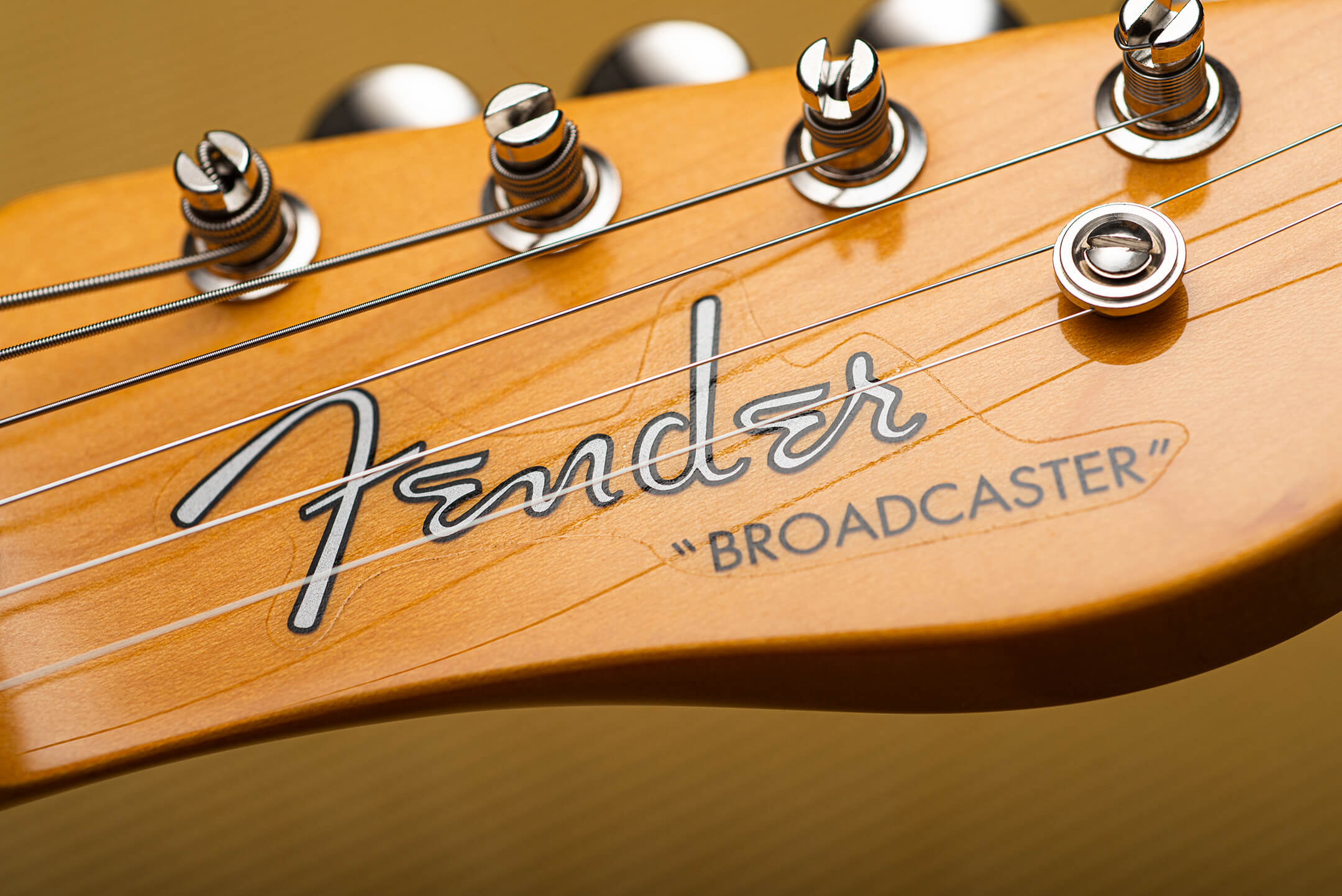 Fender 70th Anniversary Broadcaster Logo