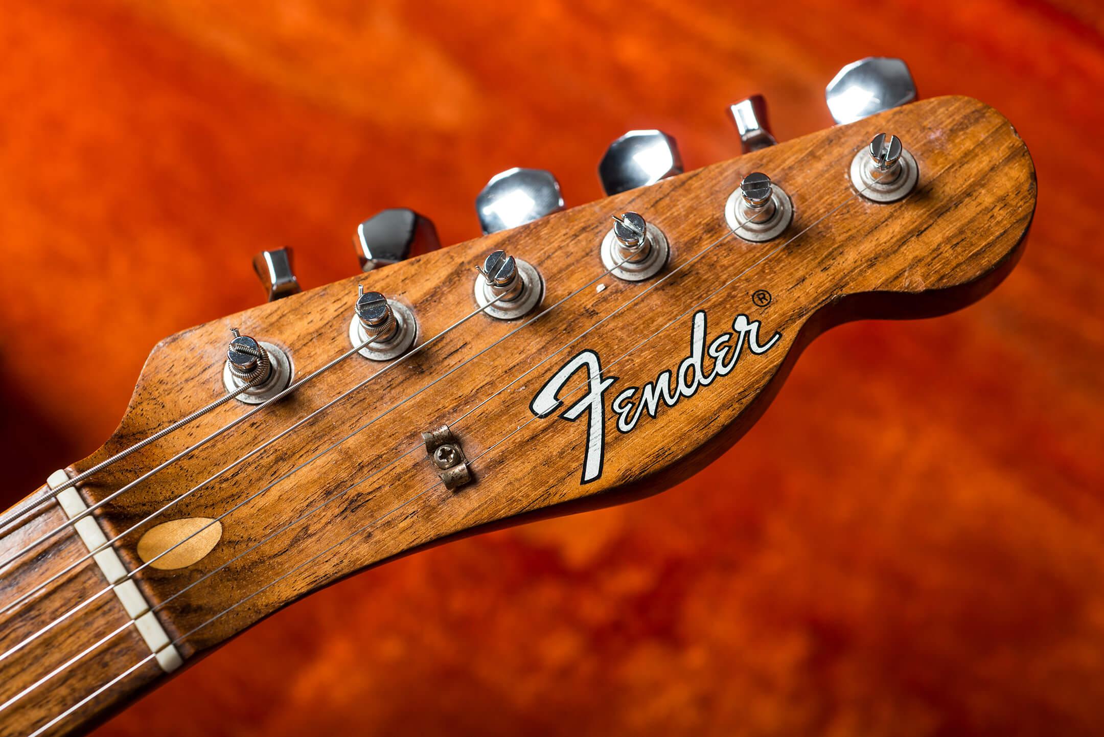 Vintage Bench Test Fender Rosewood Telecaster Headstock