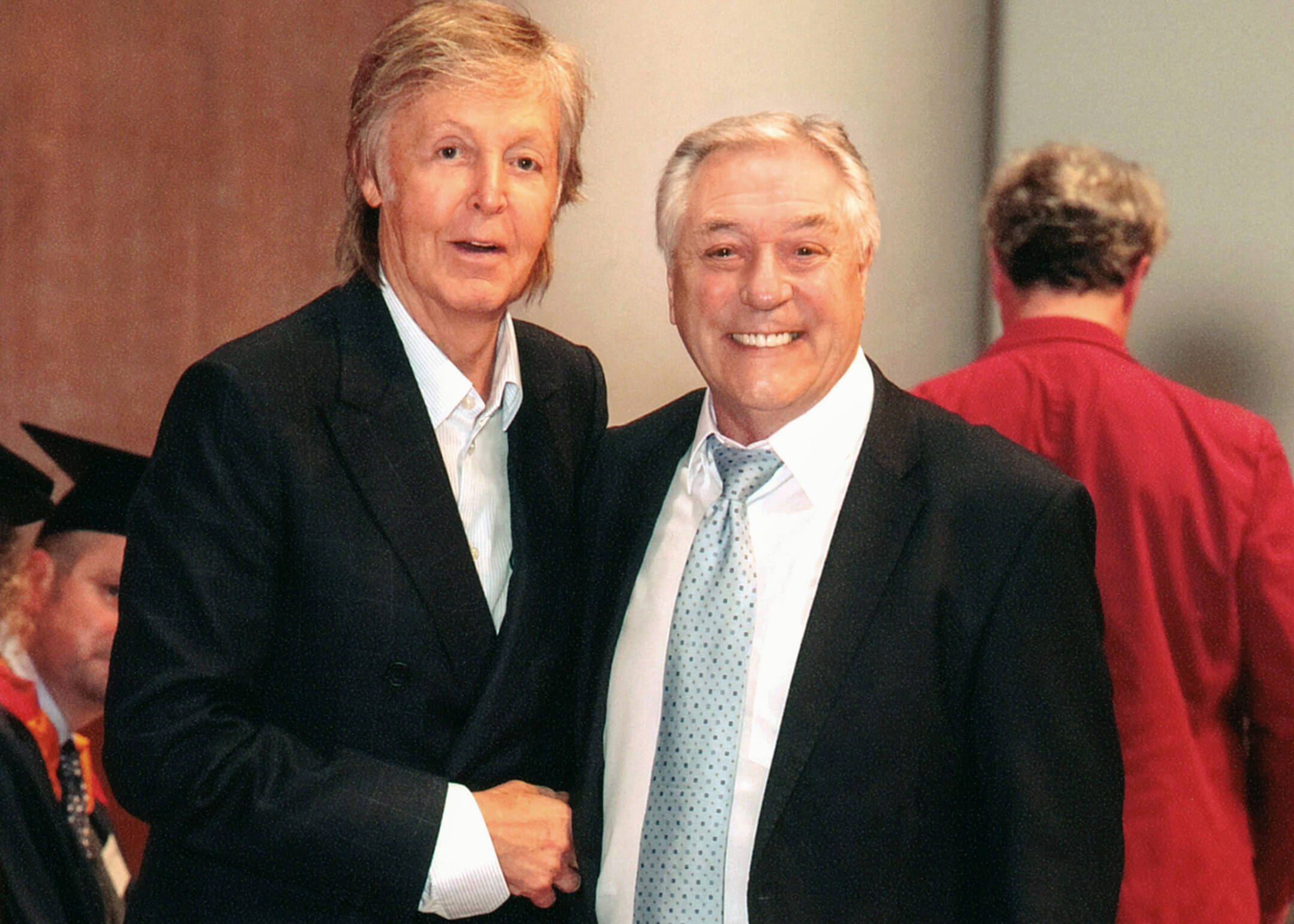 Cliff with Sir Paul McCartney at LIPA