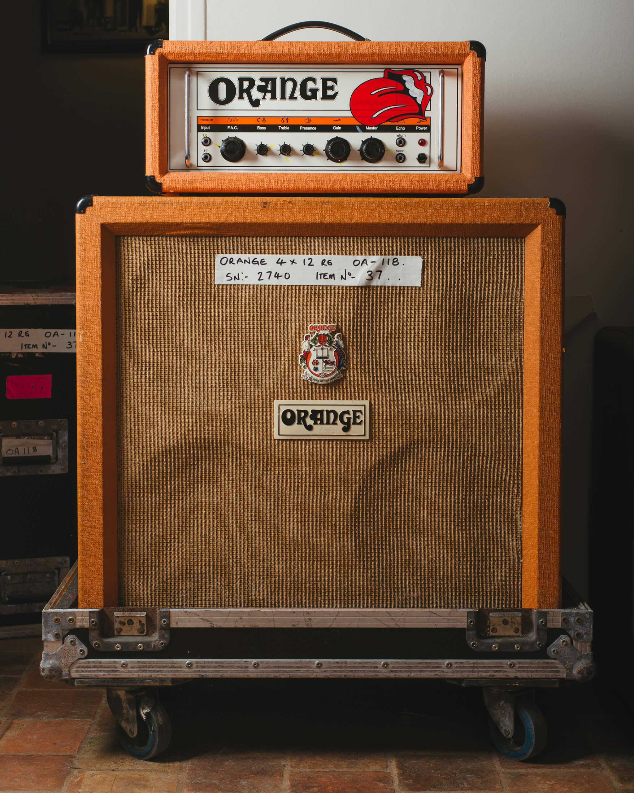 This Orange halfstack was owned by Noel Gallagher