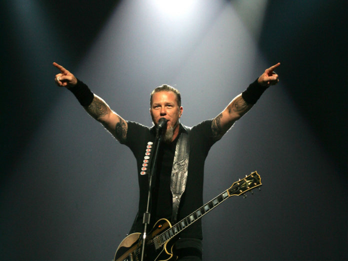 Metallica's James Hetfield performing in 2006