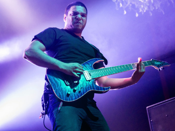 Misha Mansoor Onstage with Periphery