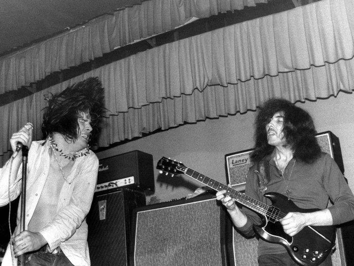 Ozzy Osbourne performing with Black Sabbath