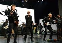 Ringo Star, Joe Walsh and Paul McCartney Onstage