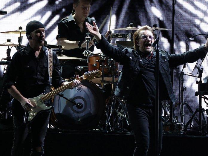 U2 Performing live