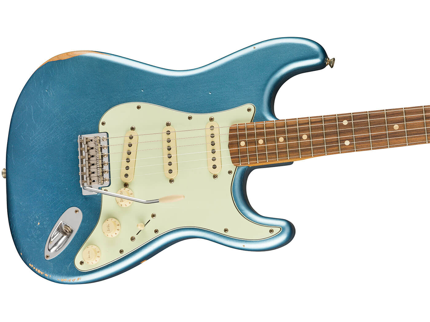 The '60s Strat in Lake Placid Blue.