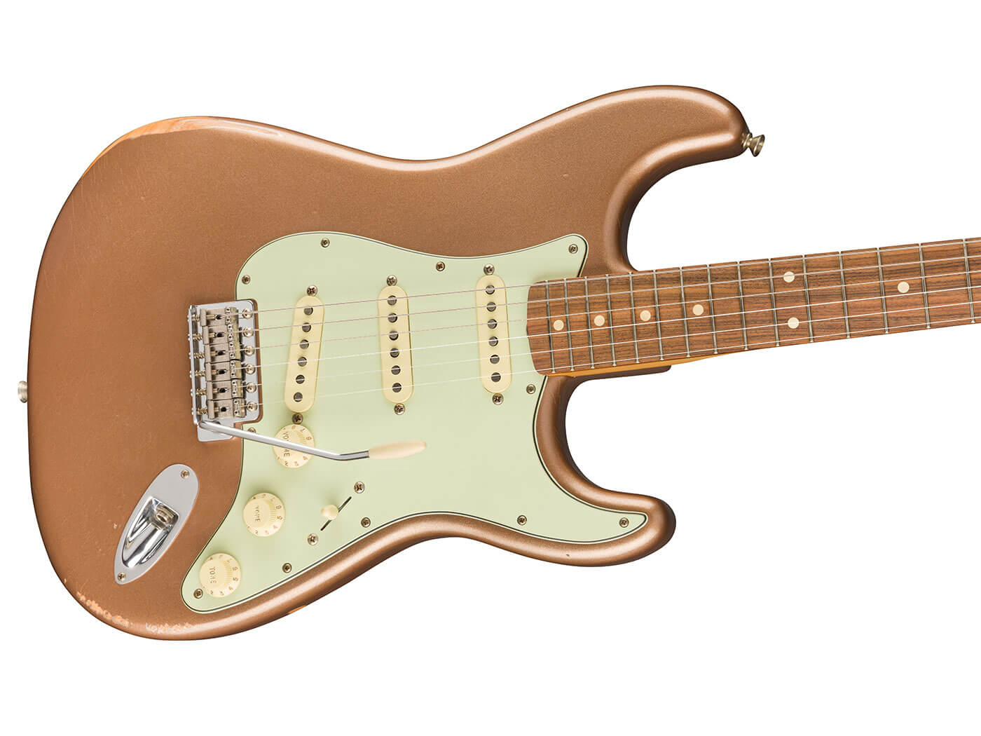 The '60s Strat in Firemist Red.
