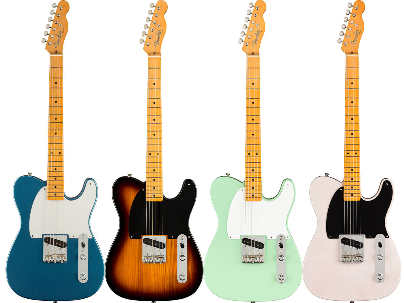 All of the different finishes for the 70th Anniversary Esquire