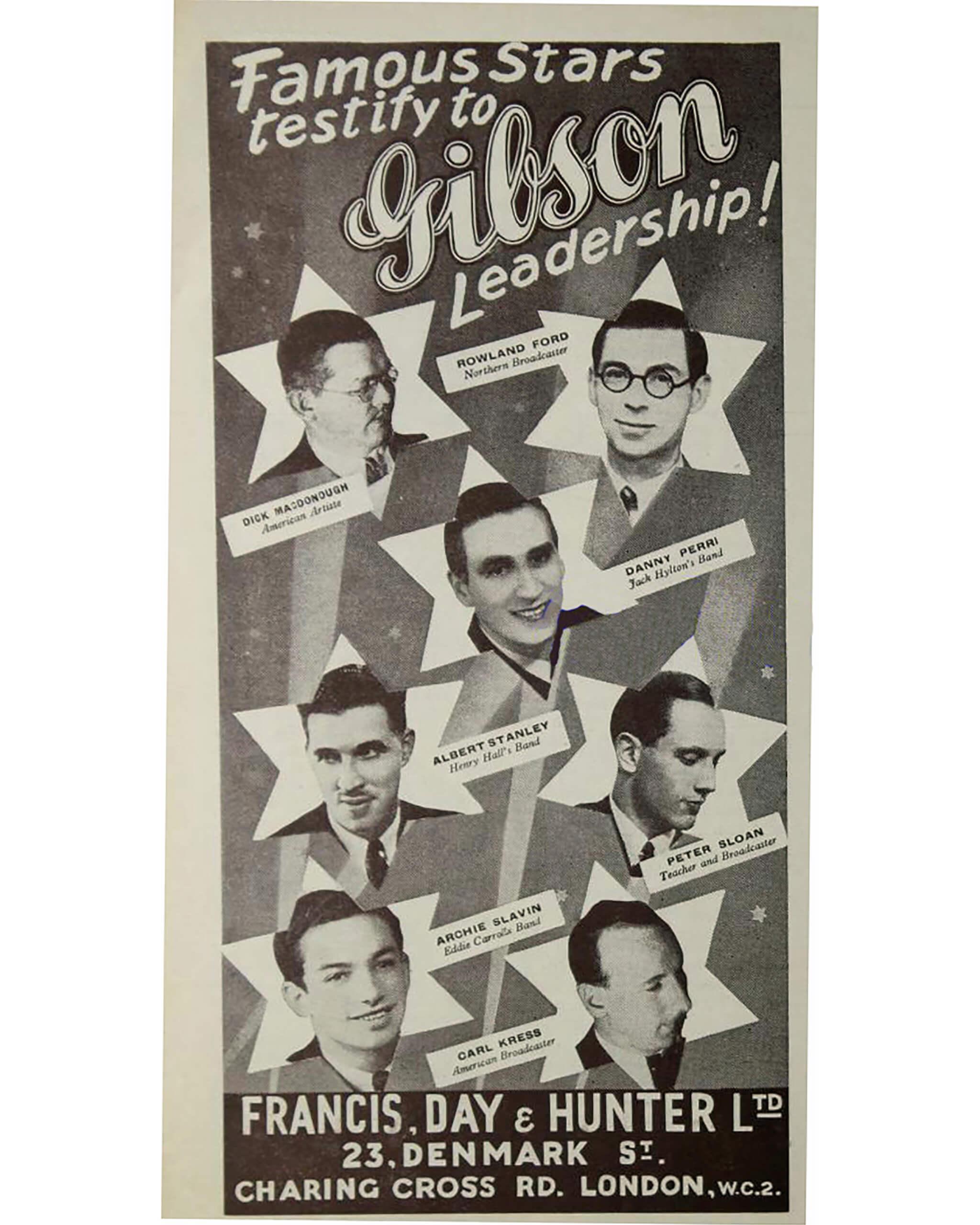 History Of Denmark Street Gibson Ad