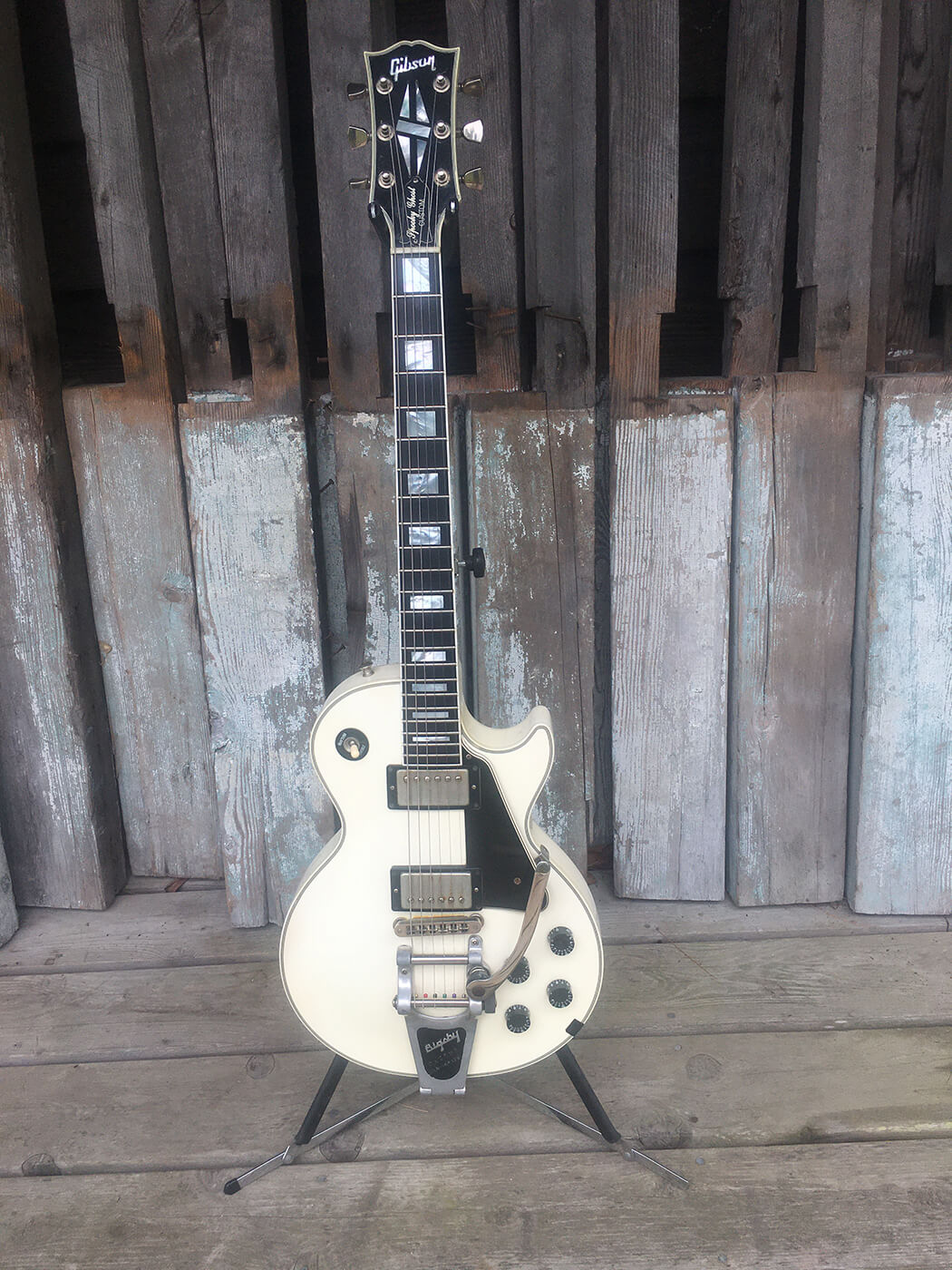 Gerry Leonard's White Ghost Les Paul