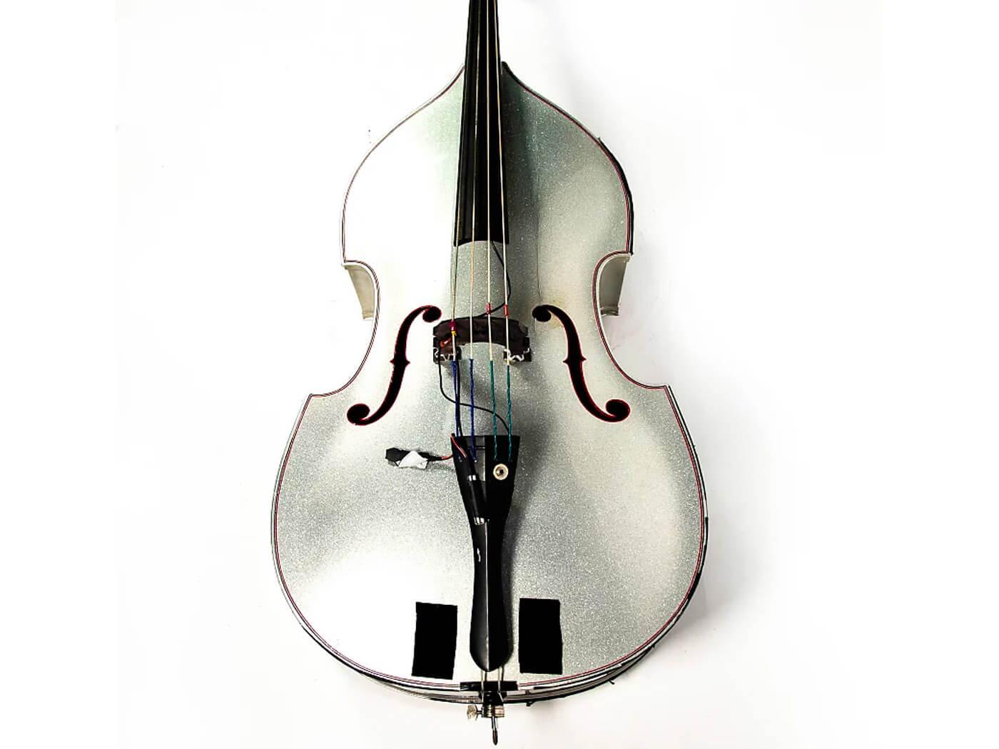 Silver Sparkle Upright Bass