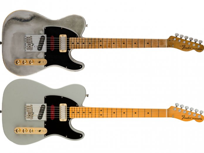 The Custom Shop (top) and production line Brent Mason Telecaster models.