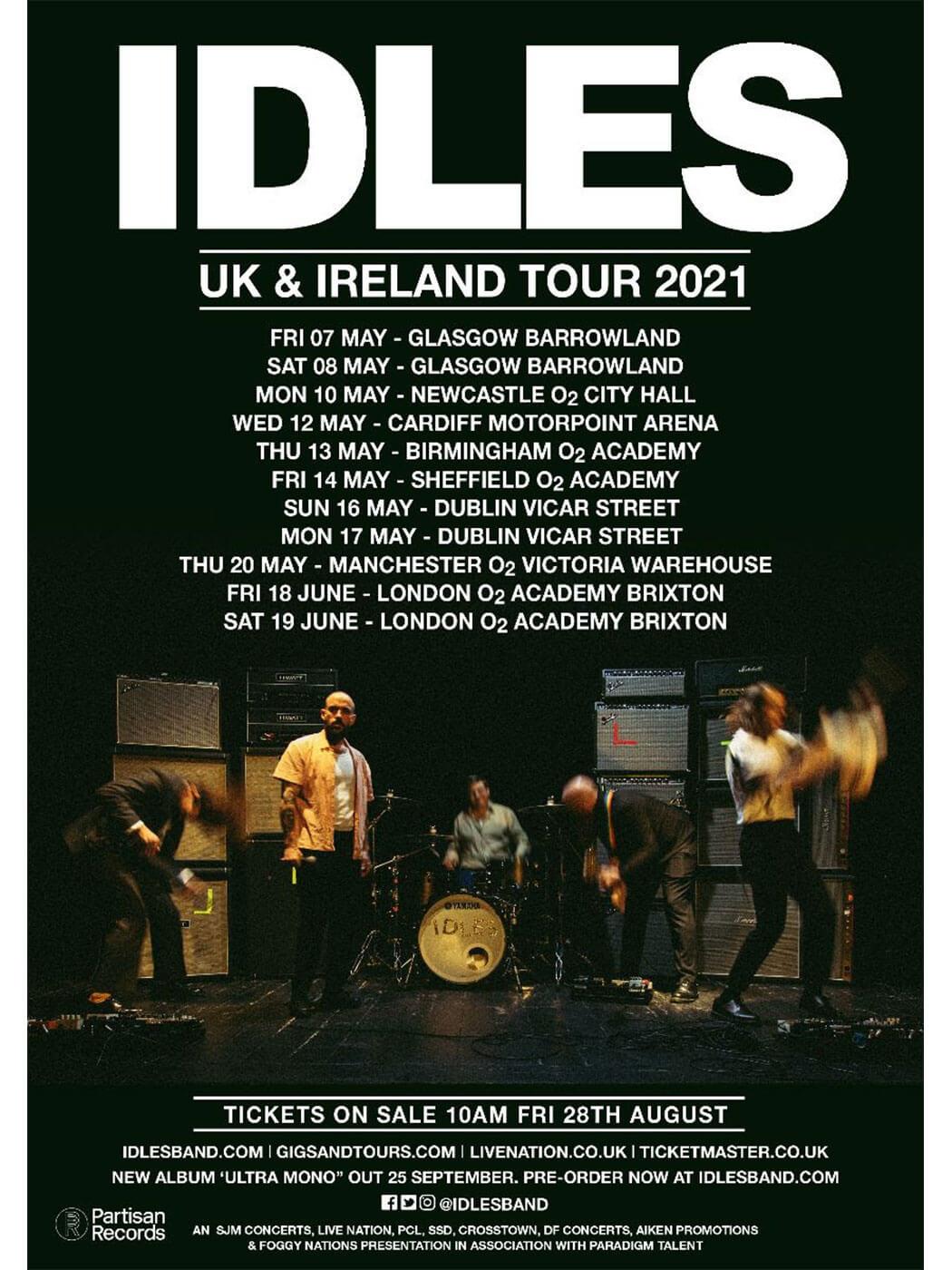 IDLES' 2021 tour