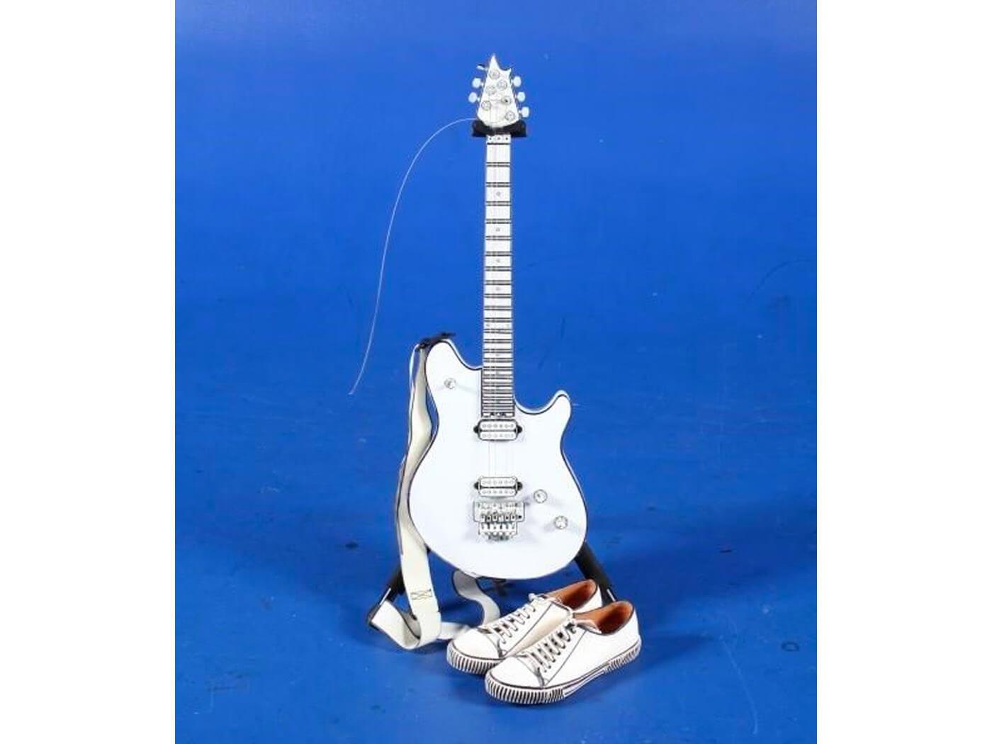 jack white evh guitar white
