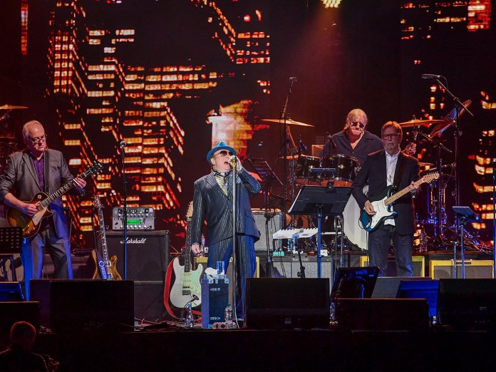 Van Morrison performing with Eric Clapton