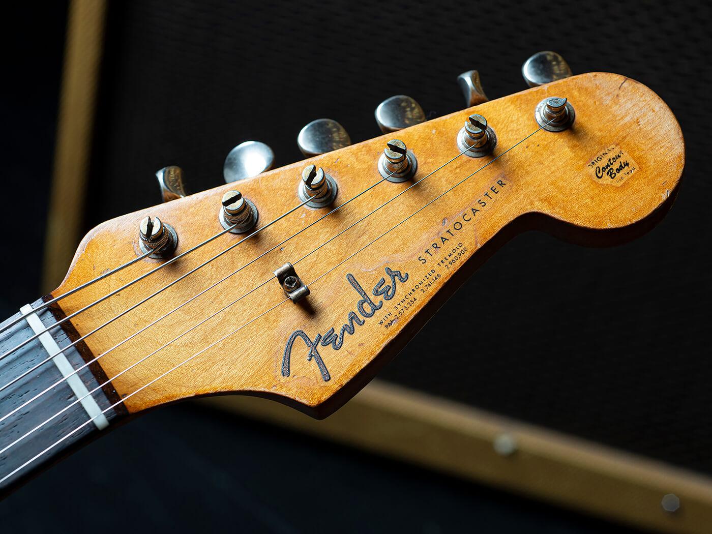 Chris Buck Stratocaster Headstock