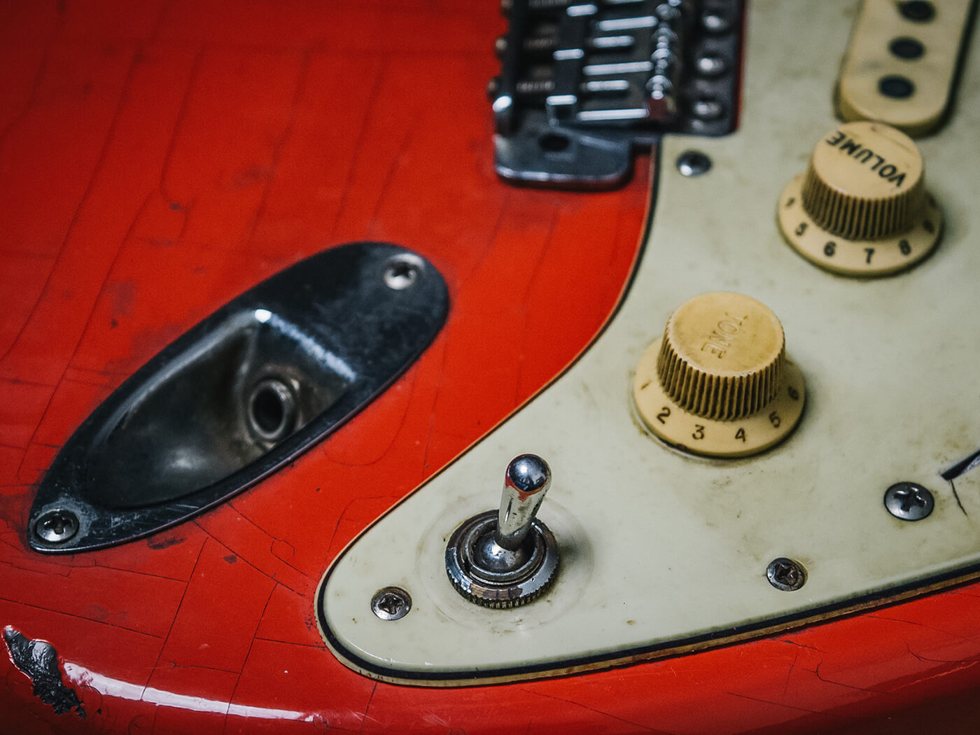 Chris Buck Stratocaster (Before) Controls