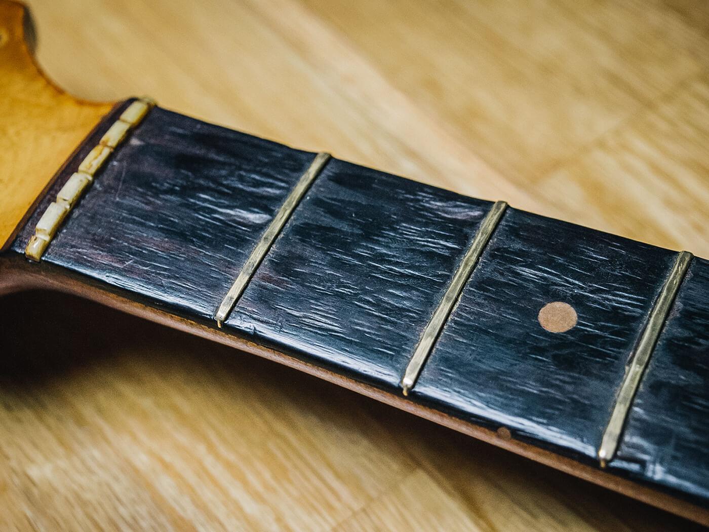 Chris Buck Stratocaster (Before) Fretboard
