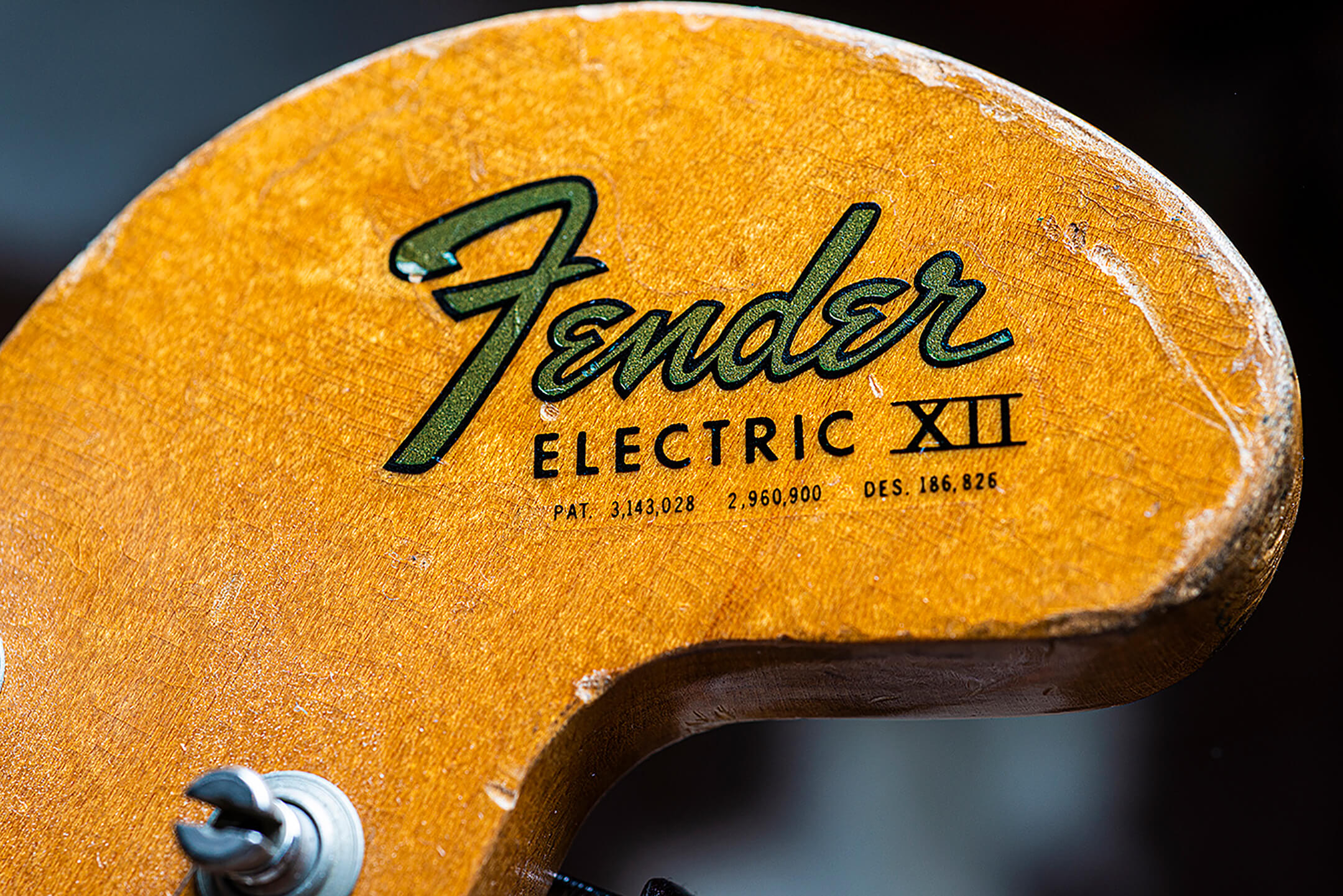 Thurston Moore's Fender Electric XIII Headstock