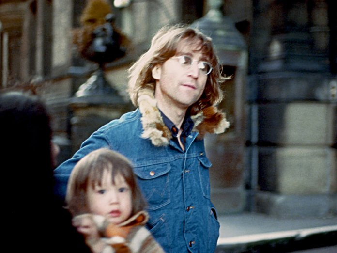 John Lennon with Sean Lennon