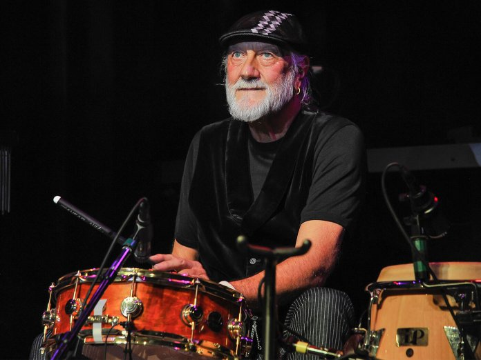Mick Fleetwood on drums