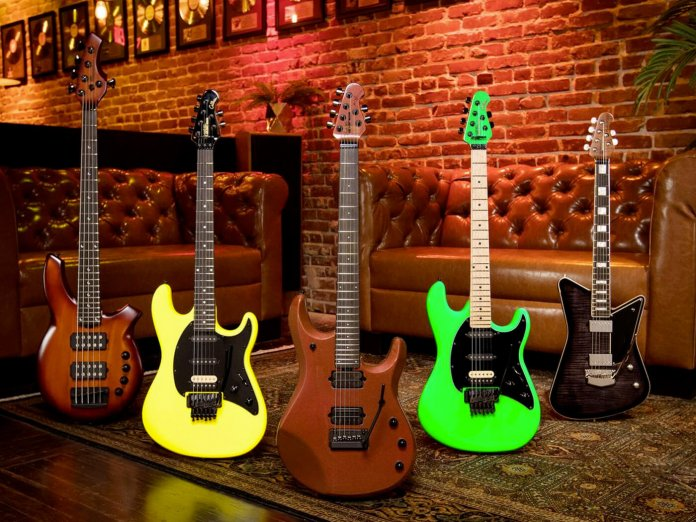 Ernie Ball Music Man's September Ball Family Reserve instruments