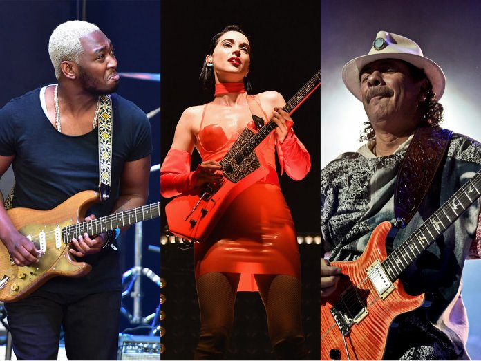 guitar.com live virtual guitar show st vincent isaiah sharkey carlos santana