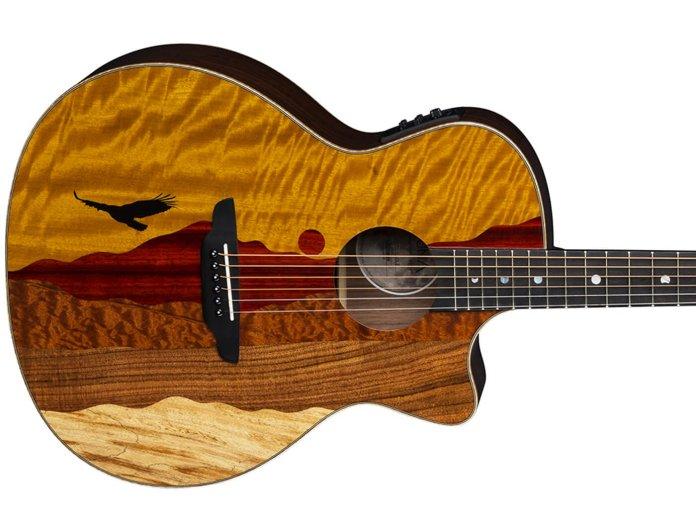 Luna Guitars Vista Eagle Tropical Wood