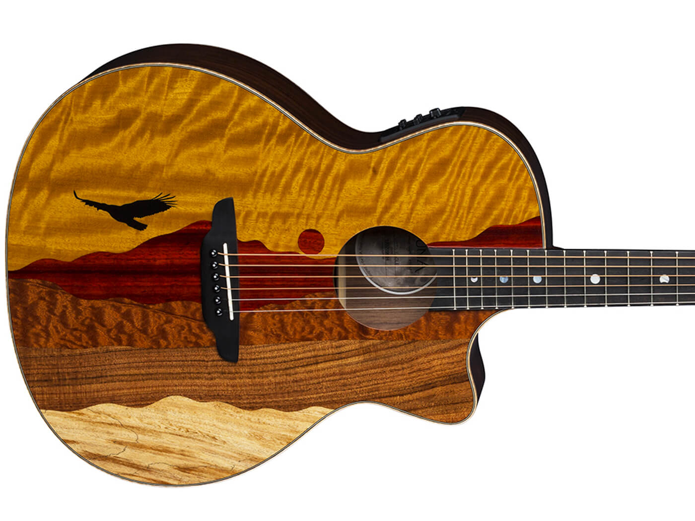 Luna Guitars Vista Eagle Tropical Wood