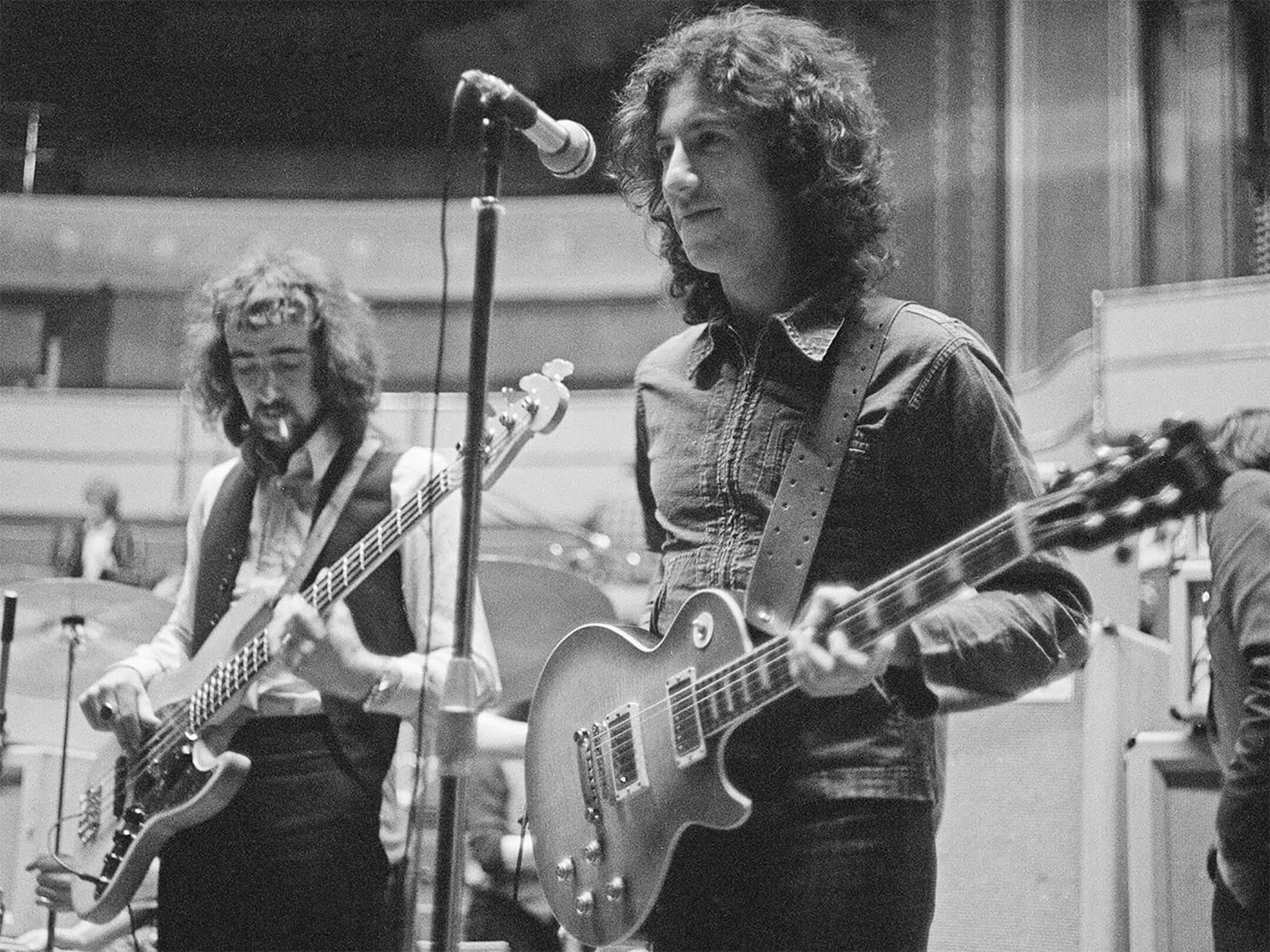 Peter Green with John McVie and Fleetwood Mac