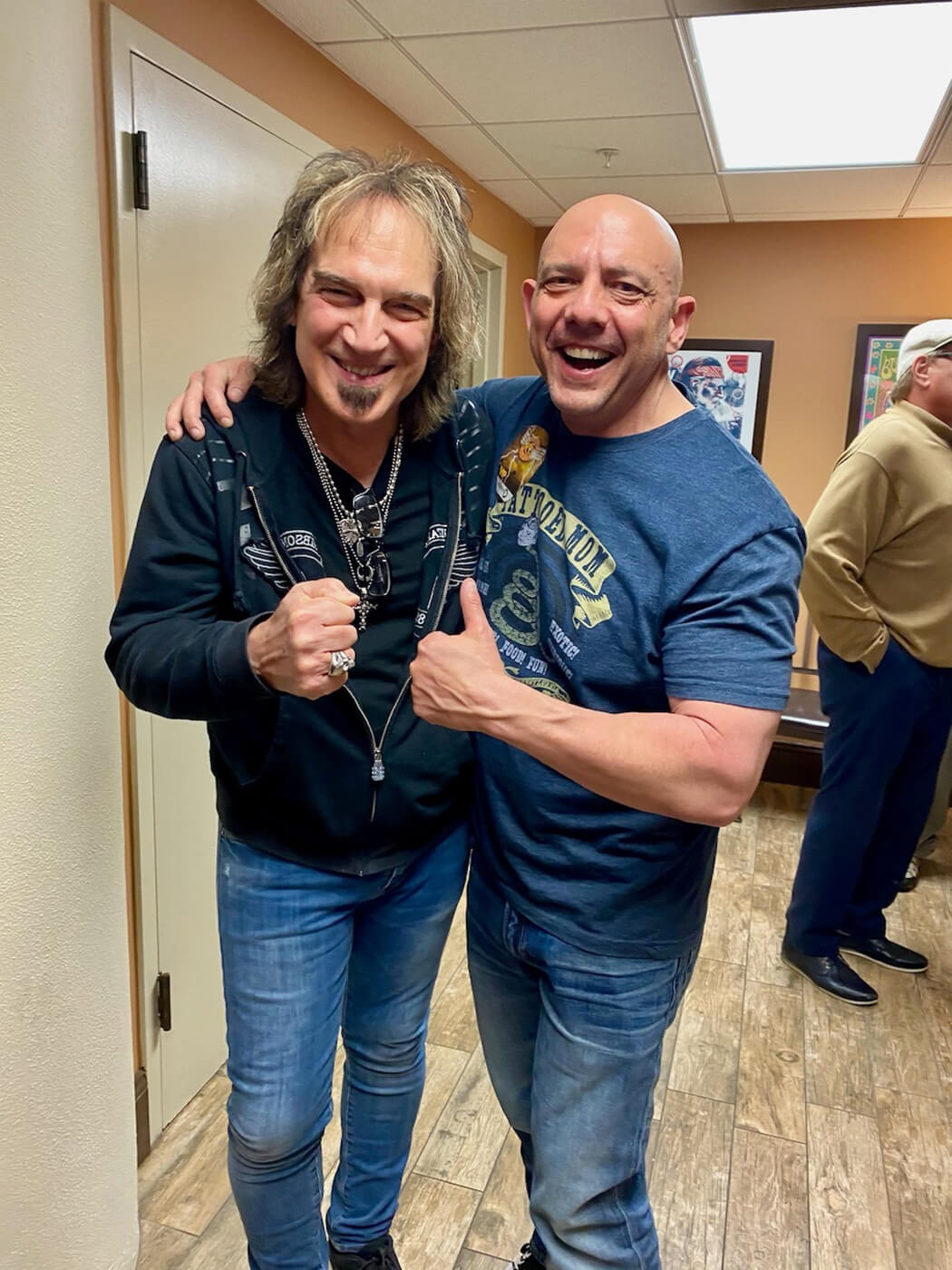 Craig Garber with Dave Amato of REO Speedwagon