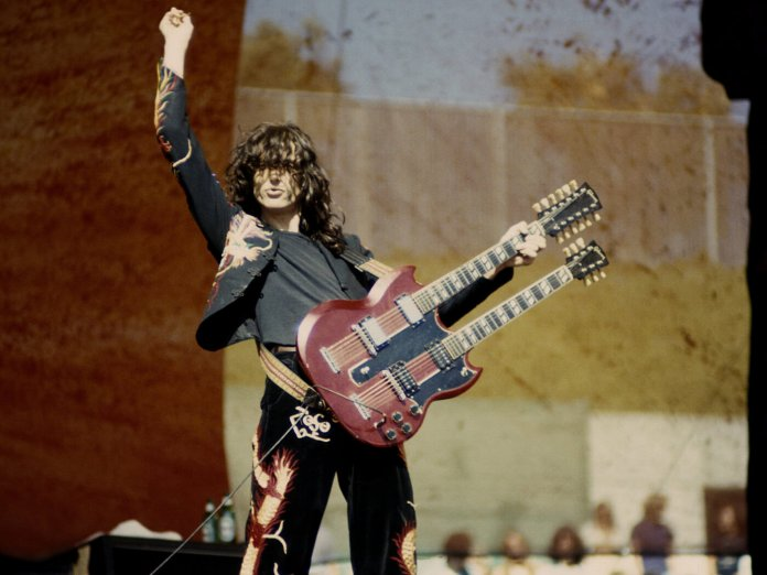 Jimmy Page onstage