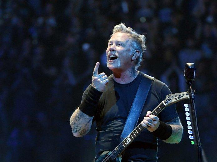 James Hetfield of Metallica ontage