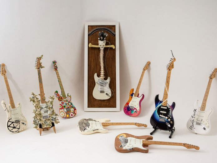 The customised big issue guitars
