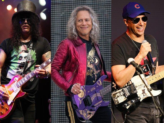 Slash, Kirk Hammett and Tom Morello
