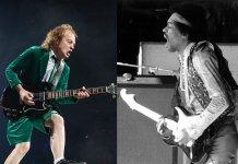 Angus Young and Jimi Hendrix