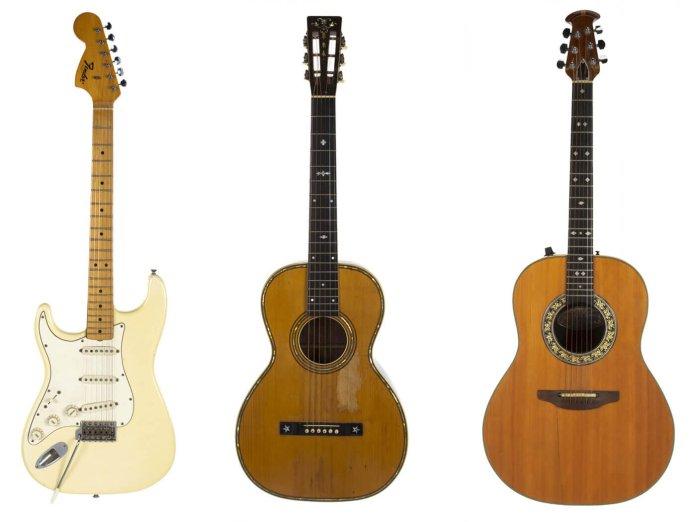 Three notable guitars