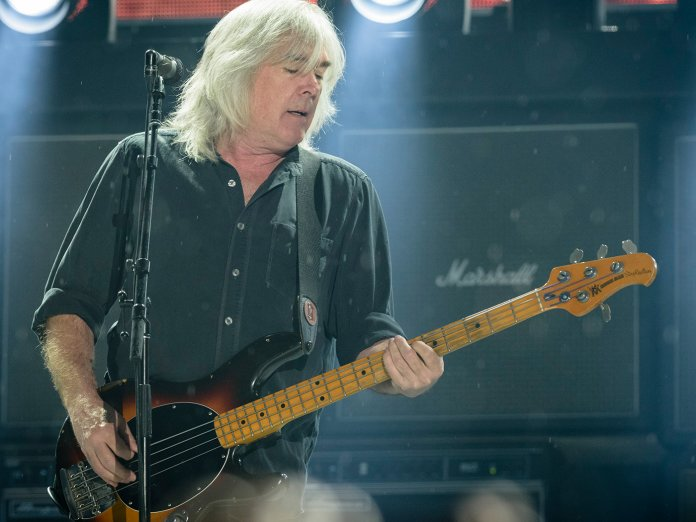 Cliff Williams performing with AC/DC