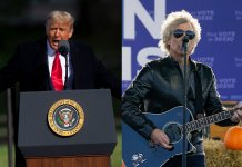 Donald Trump and Jon Bon Jovi