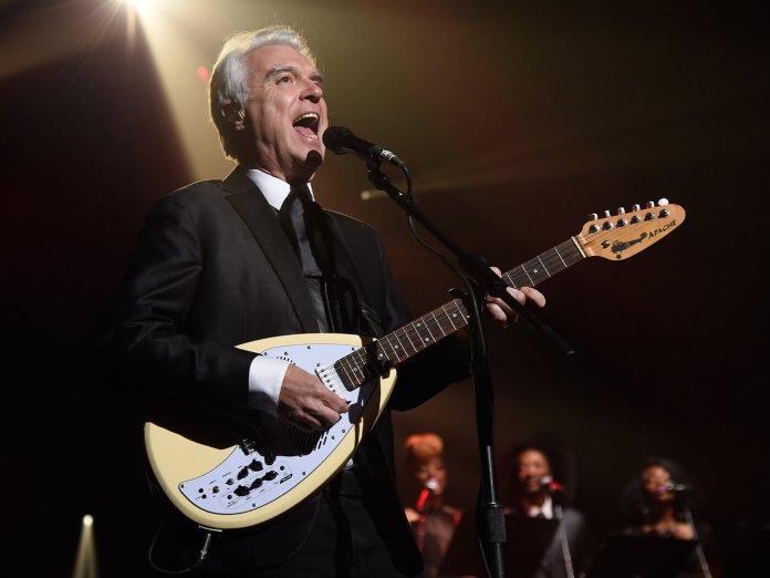 David Byrne onstage