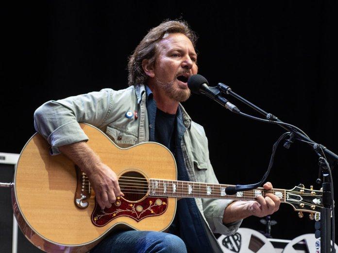 Eddie Vedder onstage