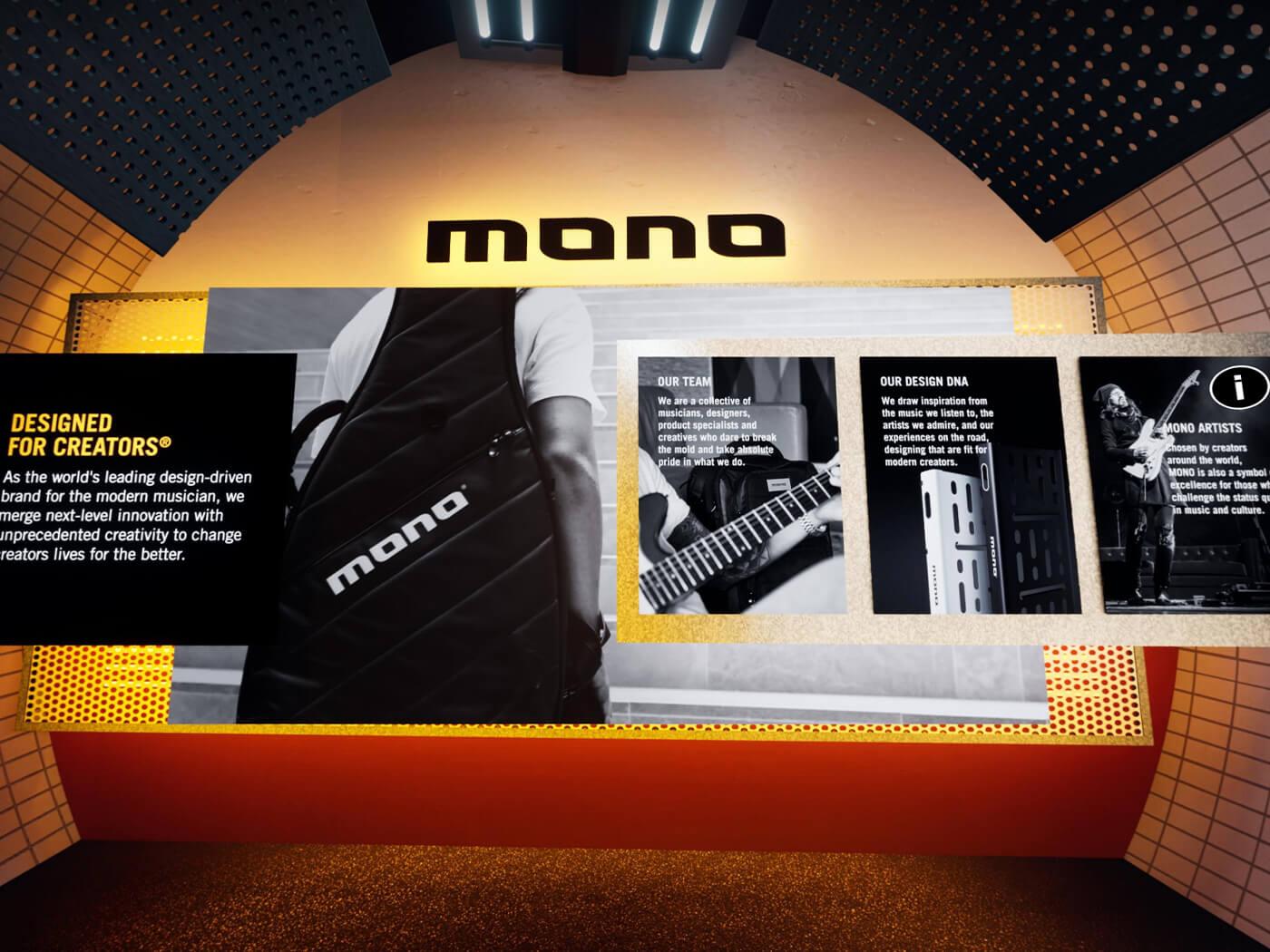 Mono's virtual booth at Guitar.com Live
