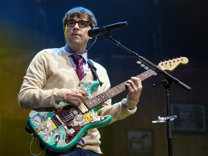Rivers Cuomo onstage